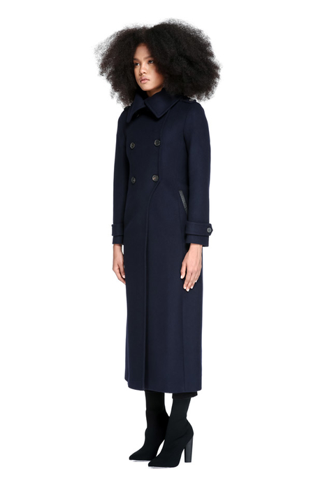 Meghan Markle's Mackage Elodie Coat in Navy blue
