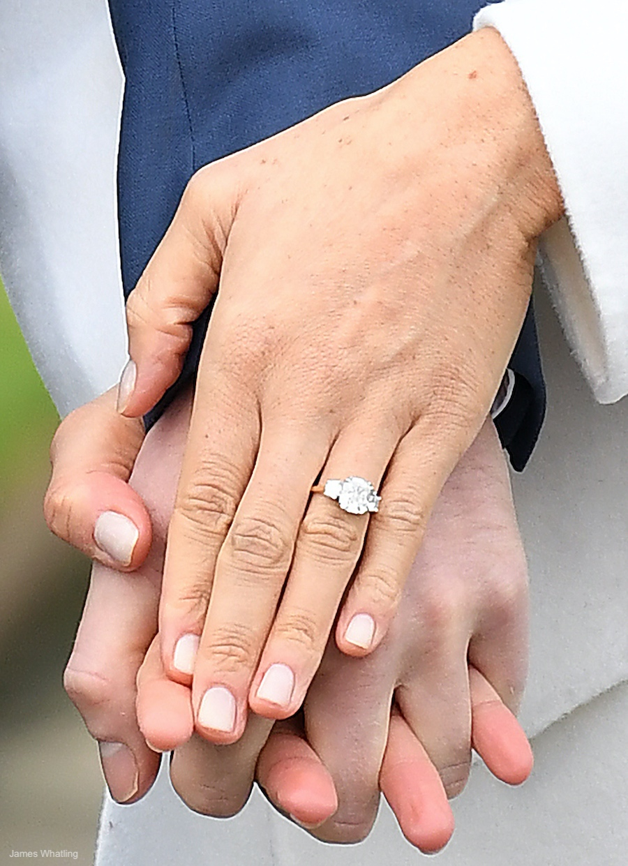 Meghan Markle's Engagement Ring at the engagement announcement photocall