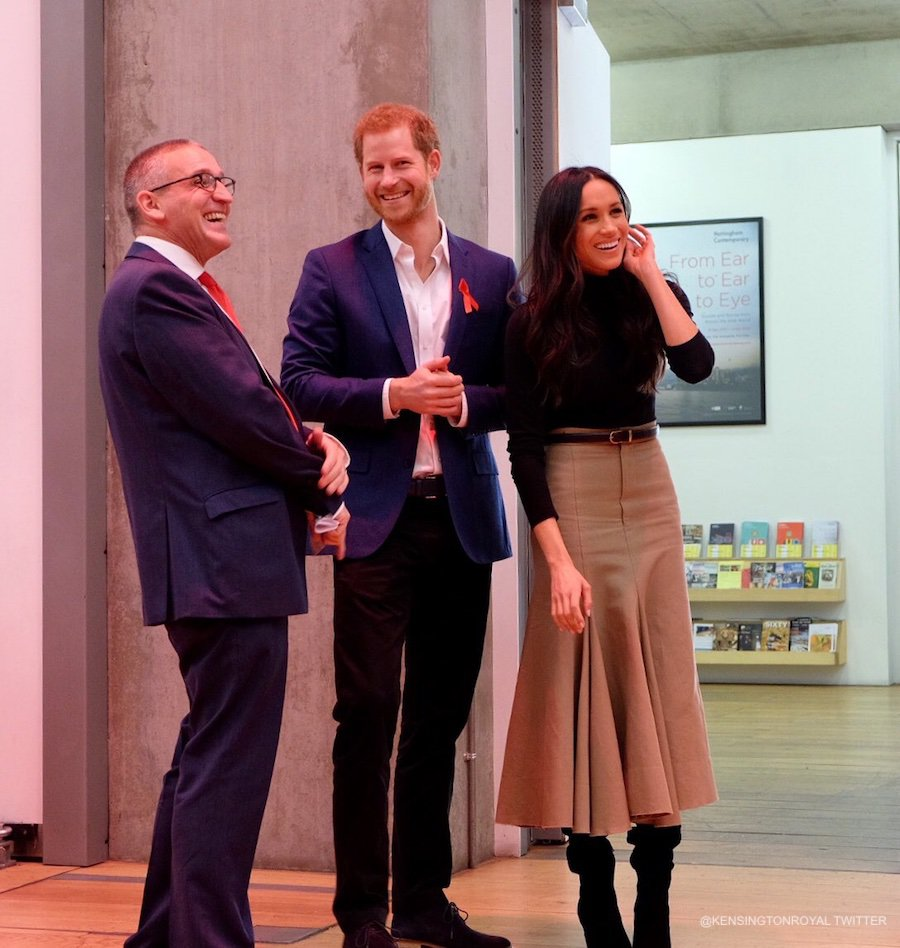 Meghan Markle and Prince Harry inside the Nottingham Contemporary Gallery