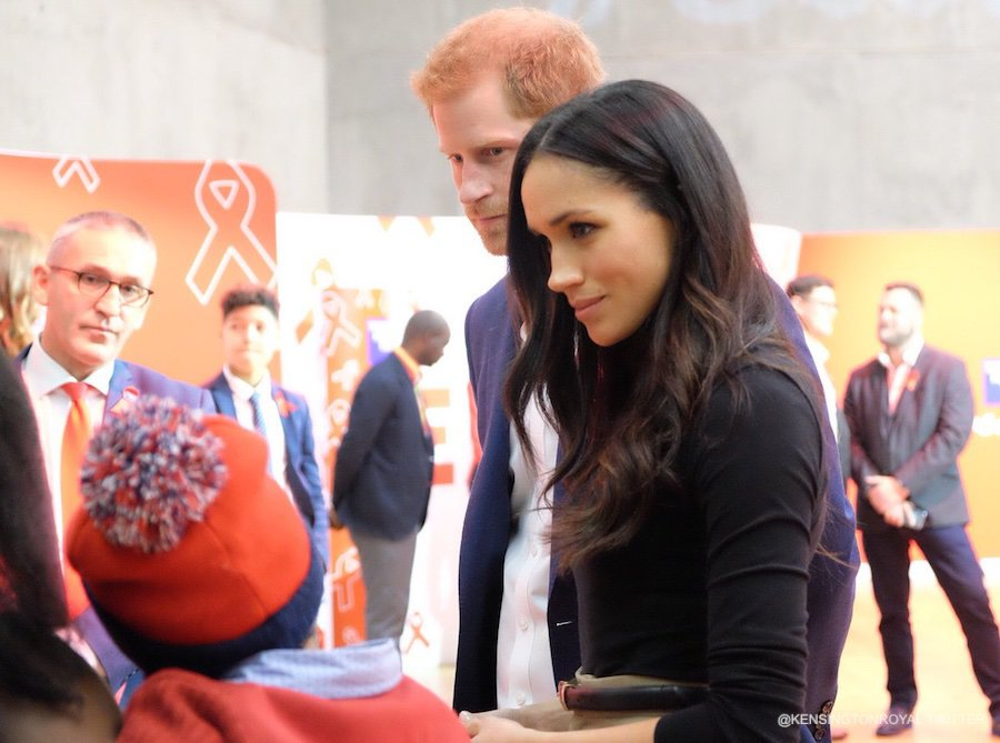 Meghan and Harry at a World AIDS Day fair at the Nottingham Contemporary