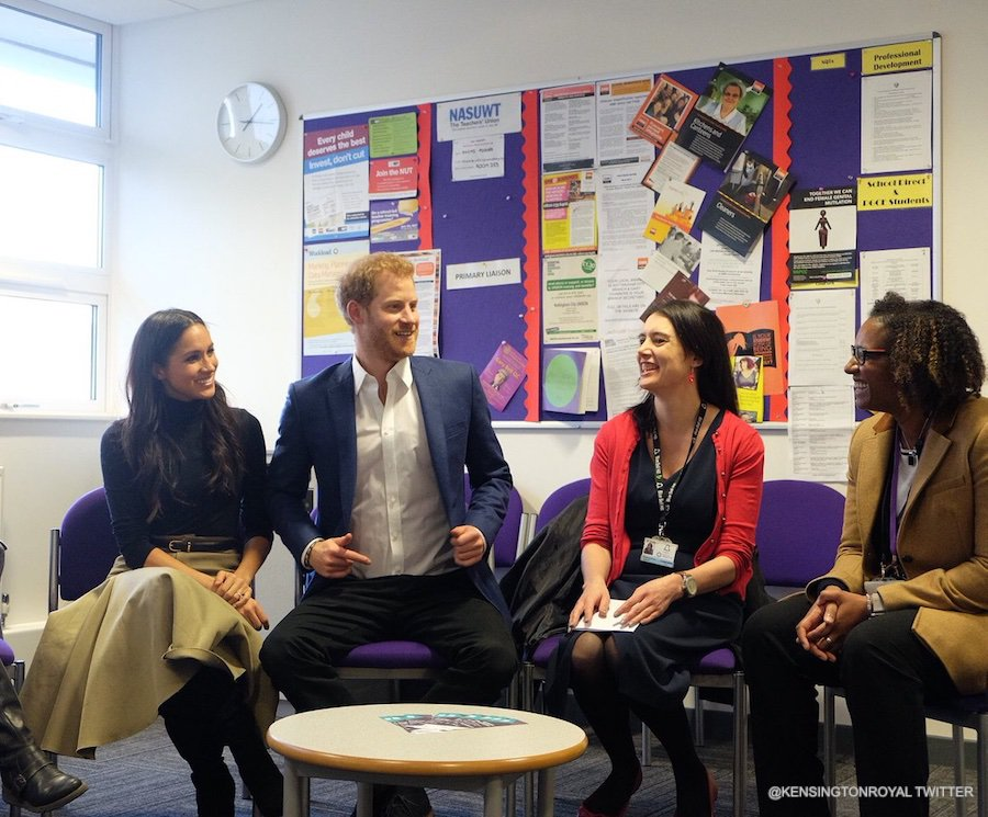 Prince Harry and Meghan Markle at Nottingham Academy