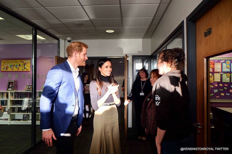 Meghan Markle wearing her Wolford Colorado Bodysuit