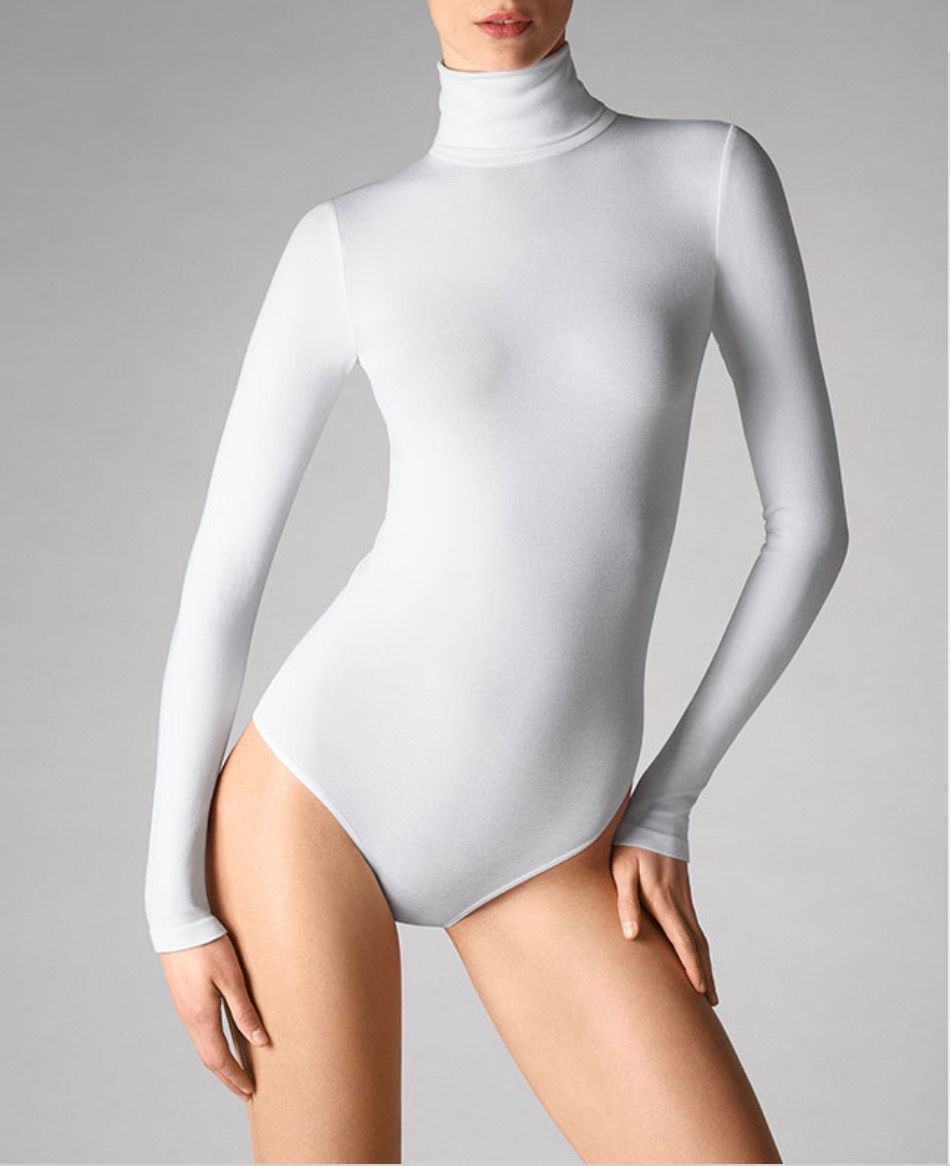 Wolford body suit in white