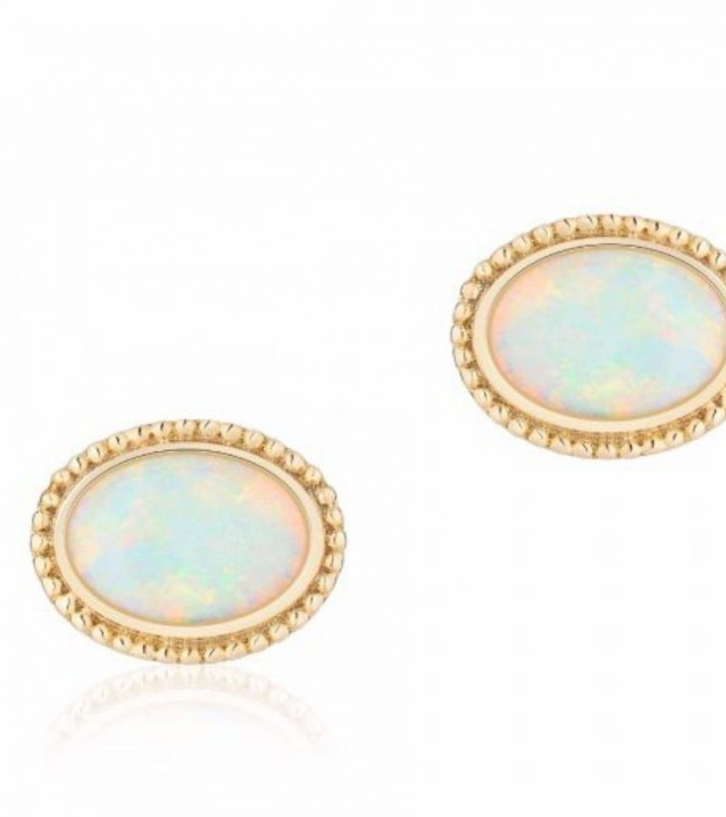 Les Plaisirs de Birks 18K yellow gold & opal earrings