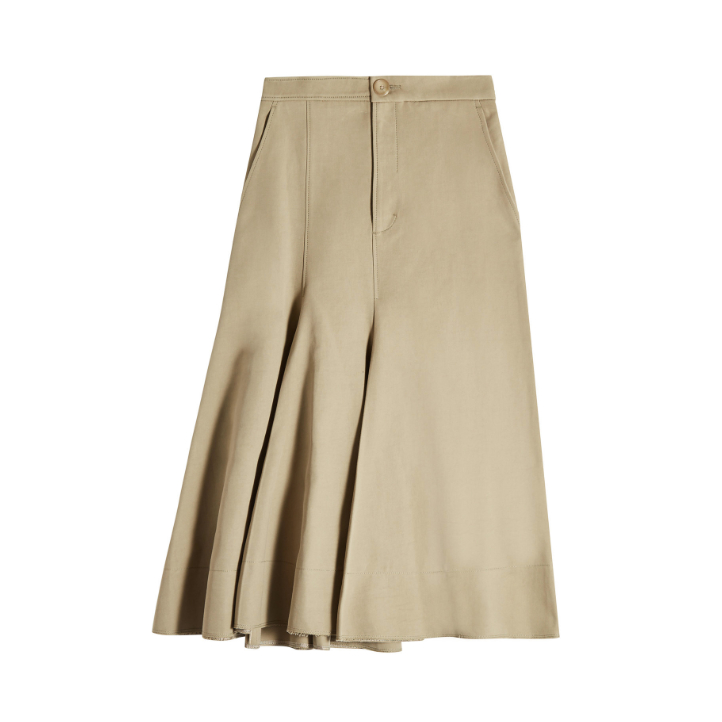 Meghan Markle's tan skirt by Joseph