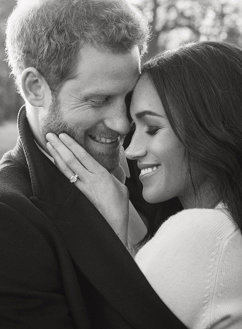 Meghan Markle and Prince Harrys engagement photo