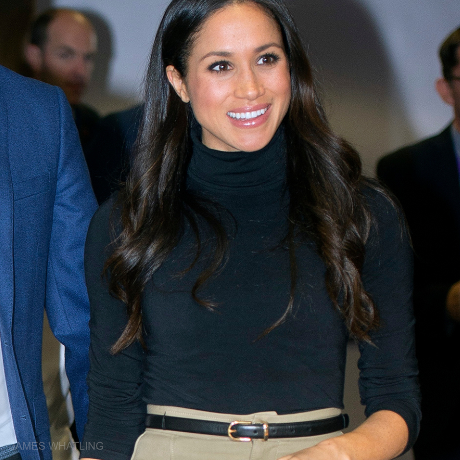 Meghan Markle's black turtleneck in Nottingham