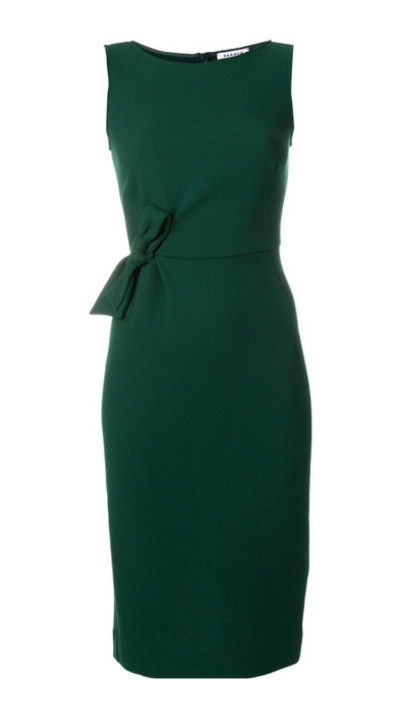 Meghan Markle's green dress from the engagement annoucement and interview. IT is by PAROSH