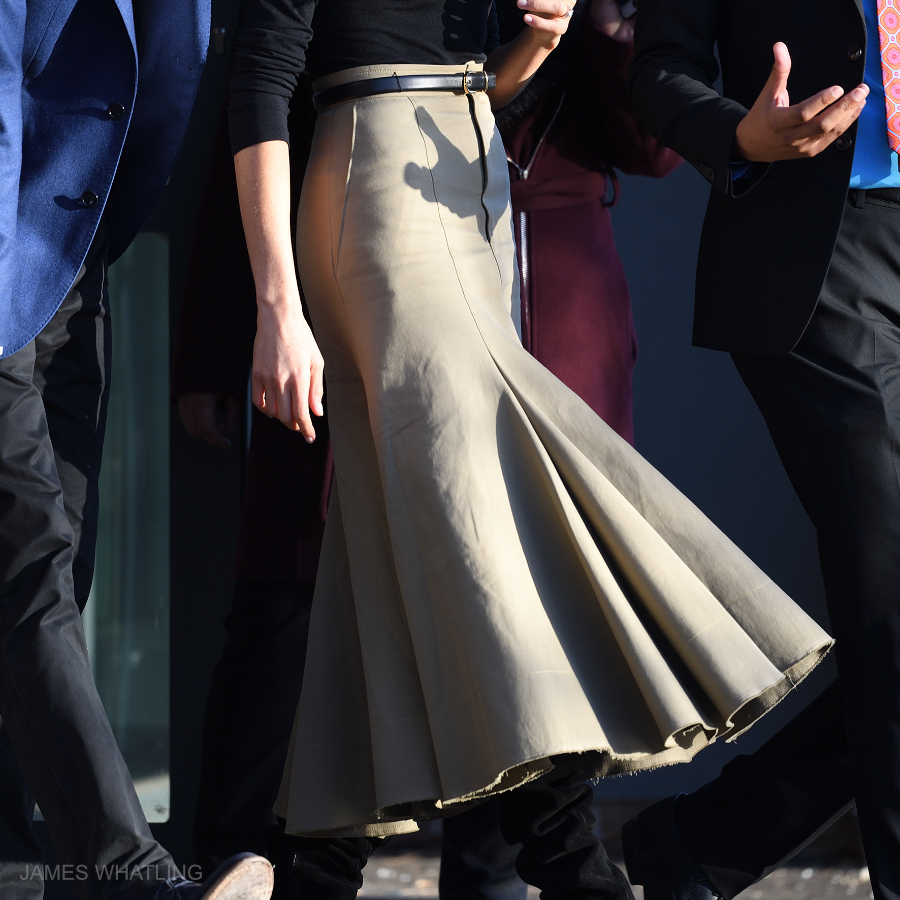 Meghan Markle's Joseph skirt in Nottingham