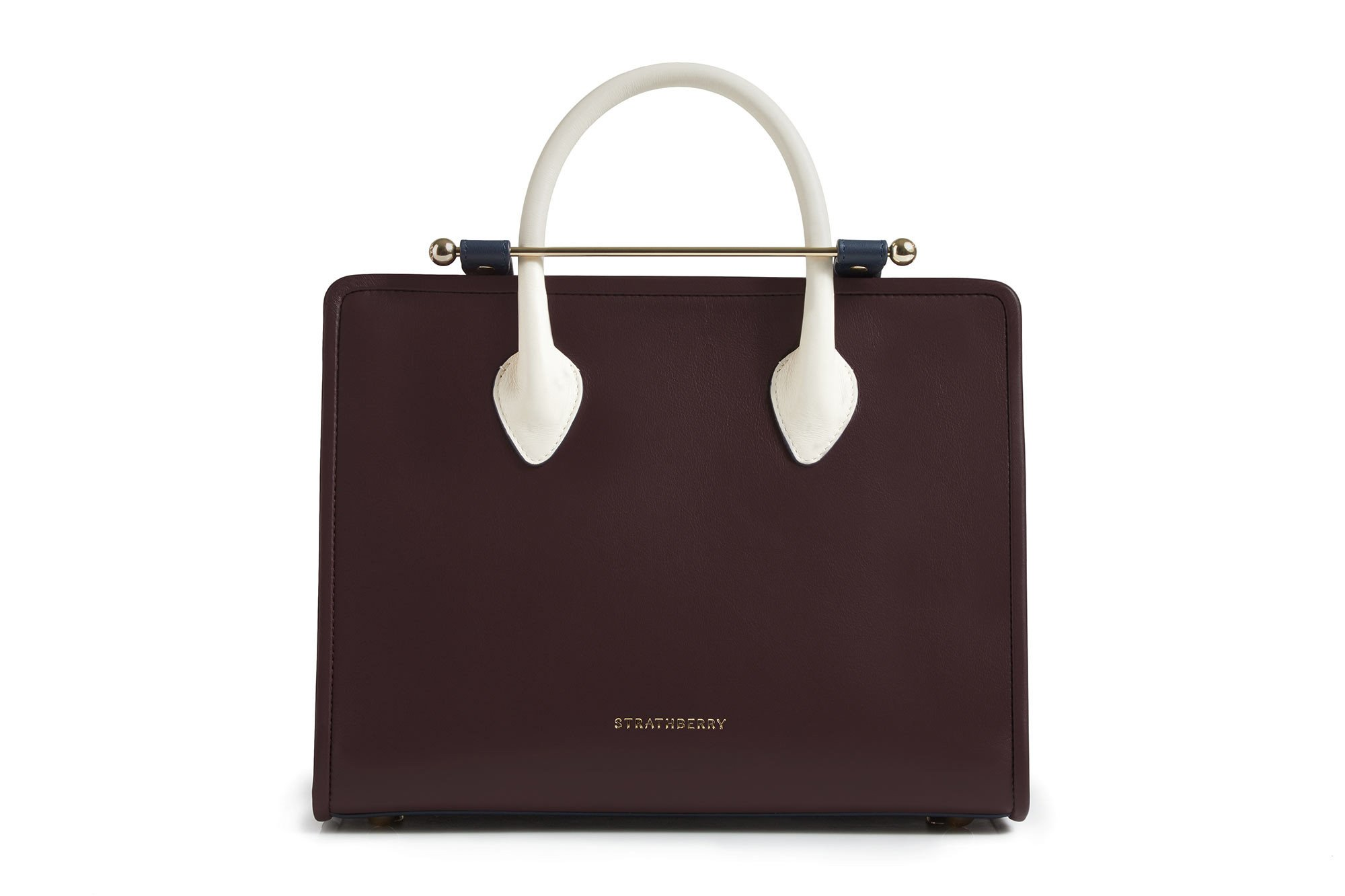 Meghan Markle's Strathberry Midi tote in burgundy
