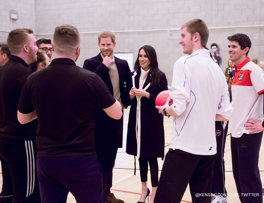 Harry and Meghan visit Coach Core in Birmingham