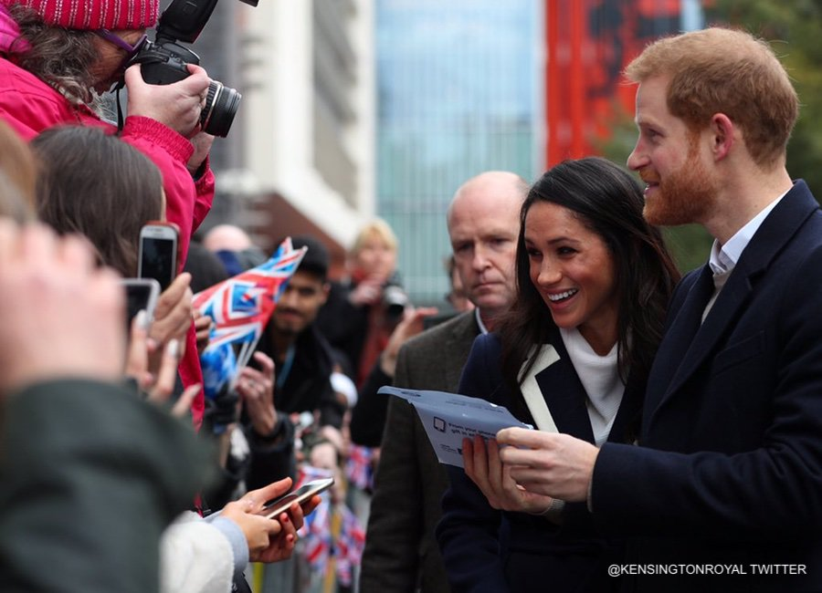 Meghan and Harry in Birmingham