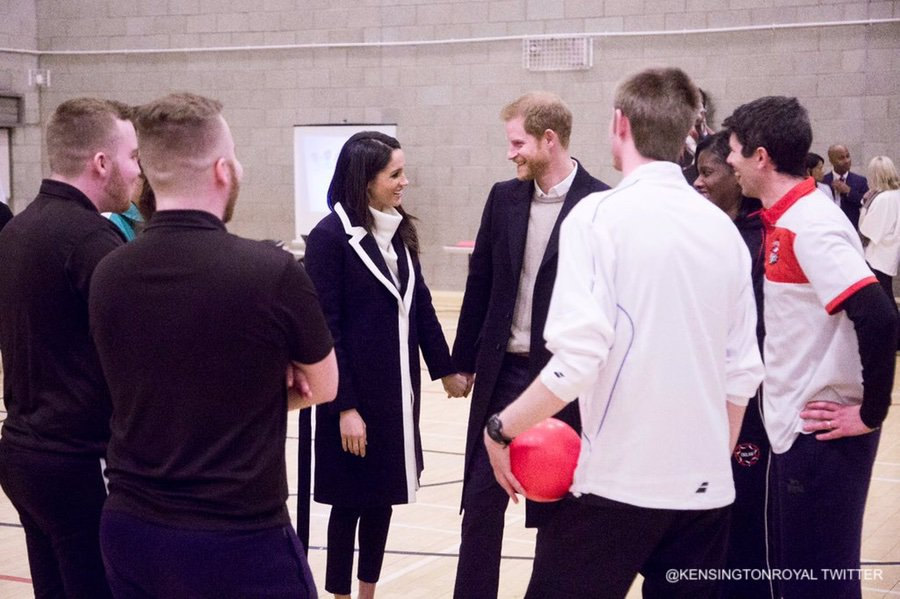 Meghan and Harry at Coach Core Birmingham