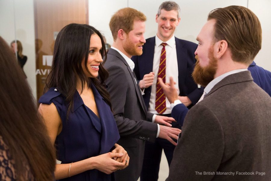 Meghan Markle meeting with delegates at the Royal Foundation Forum