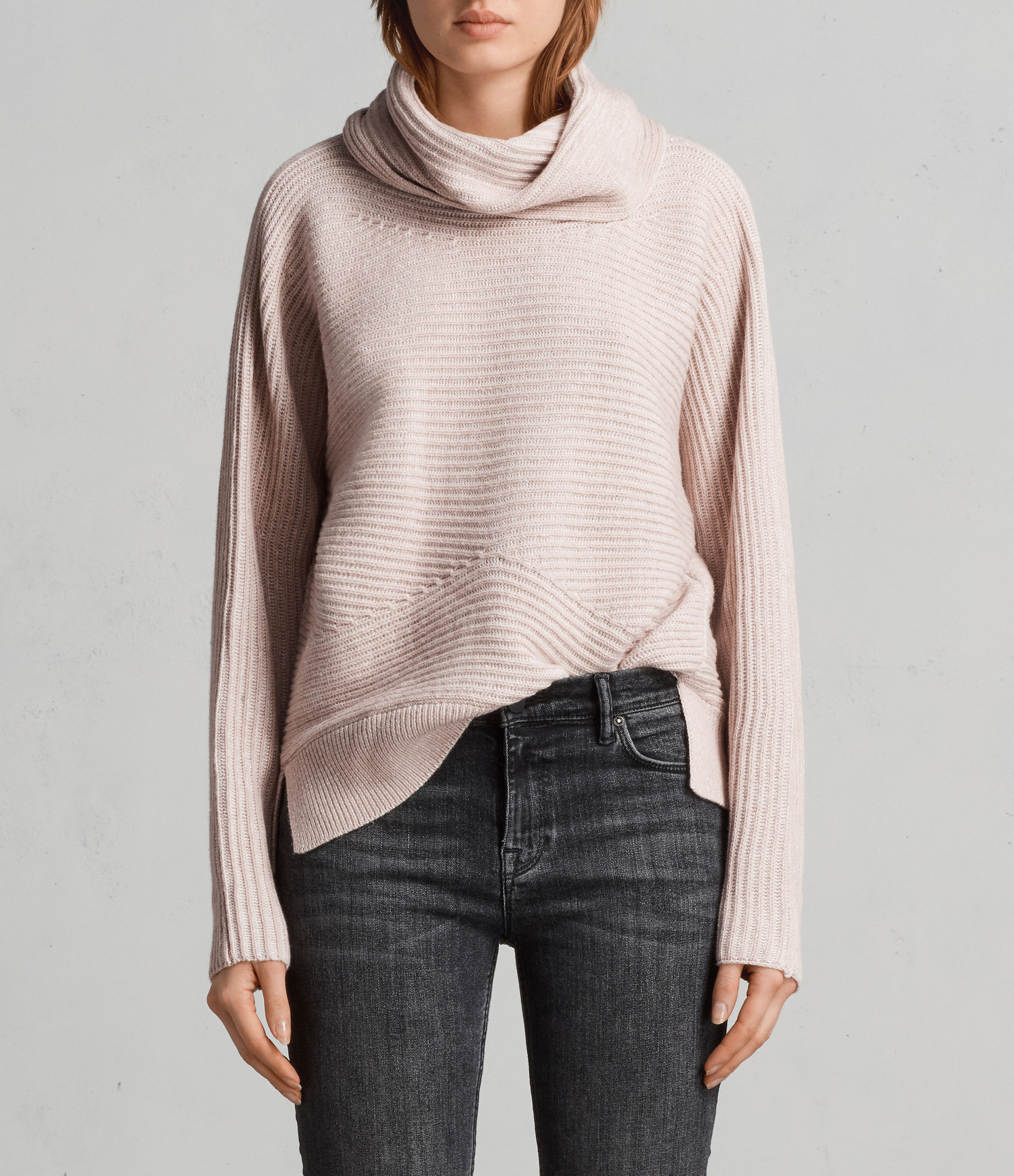 All Saints Mesa Sweater in pink