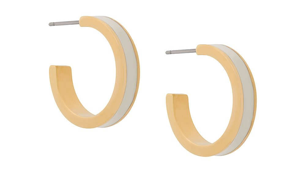 Isabel Marant Enamel Hoop Earrings in Ecru. Meghan Markle has worn these earrings in gold/black