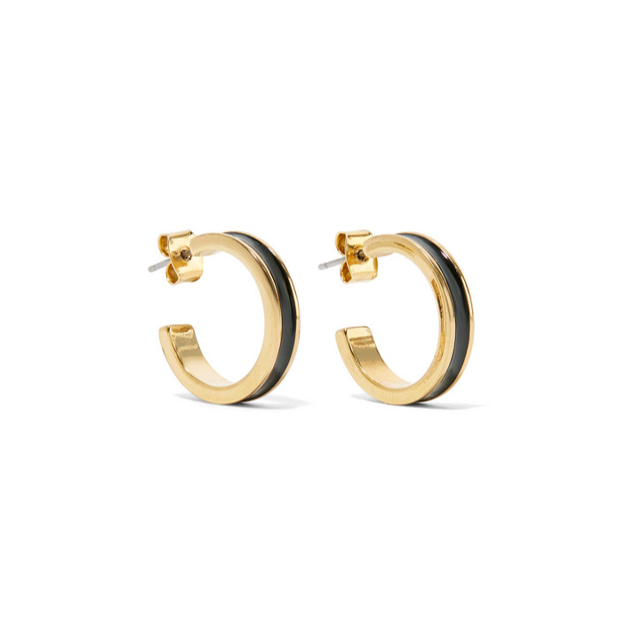 Isabel Marant Enameled gold-tone hoop earrings