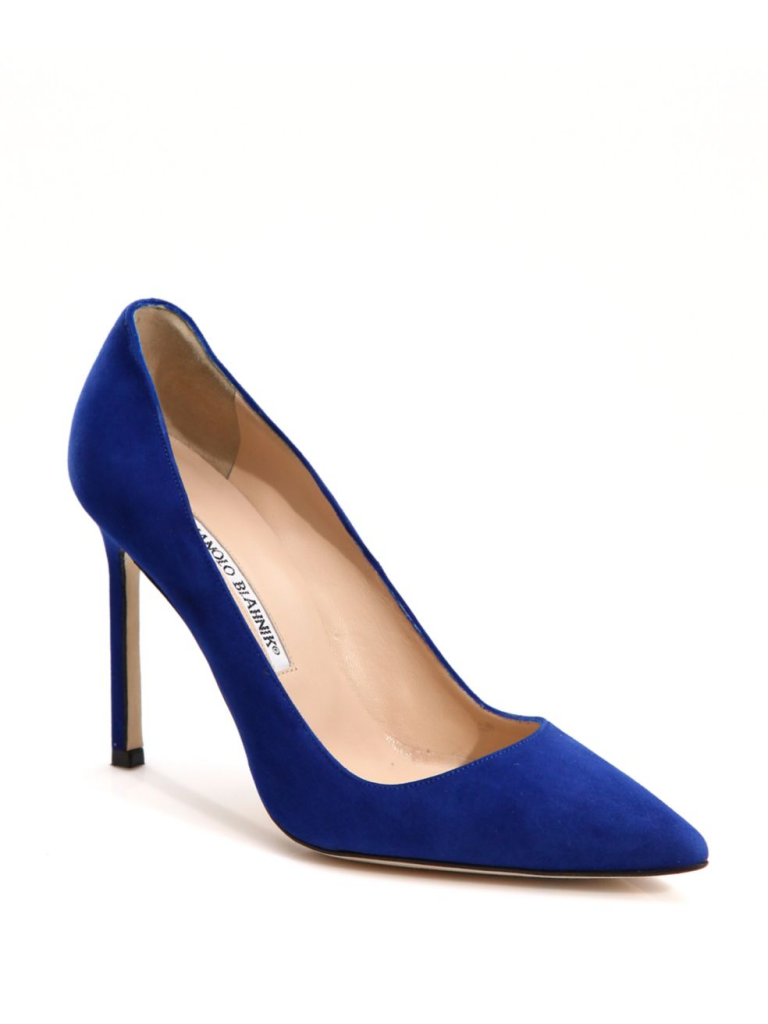 Manolo Blahnik BB pumps in blue