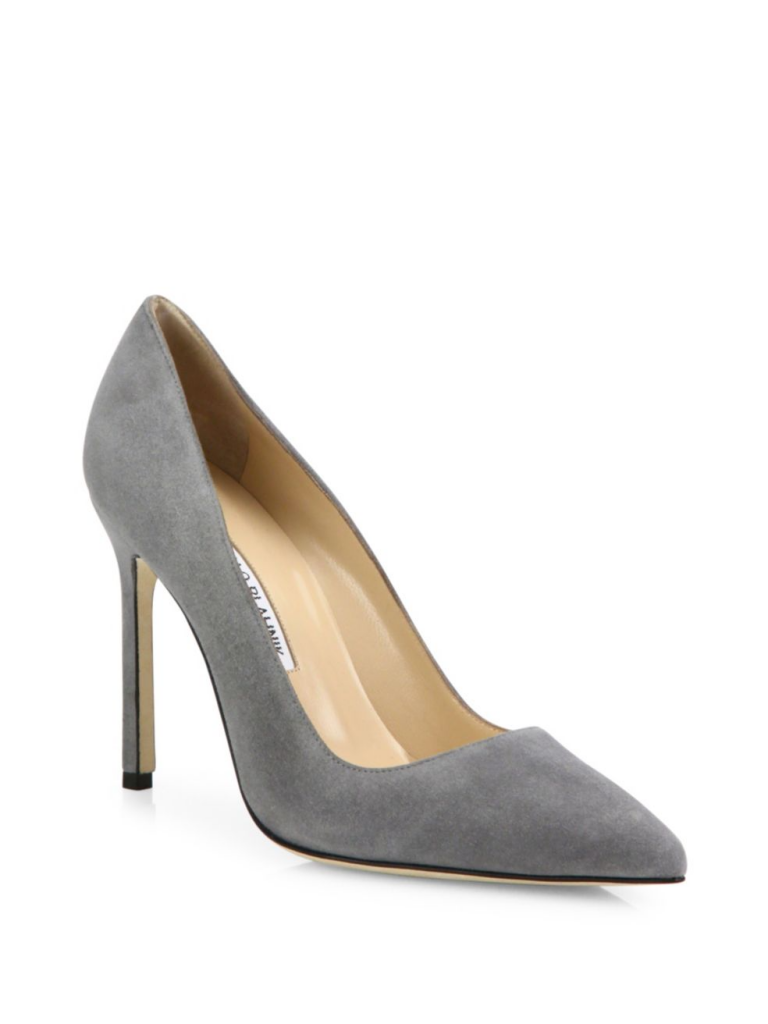 Manolo Blahnik BB pumps in grey