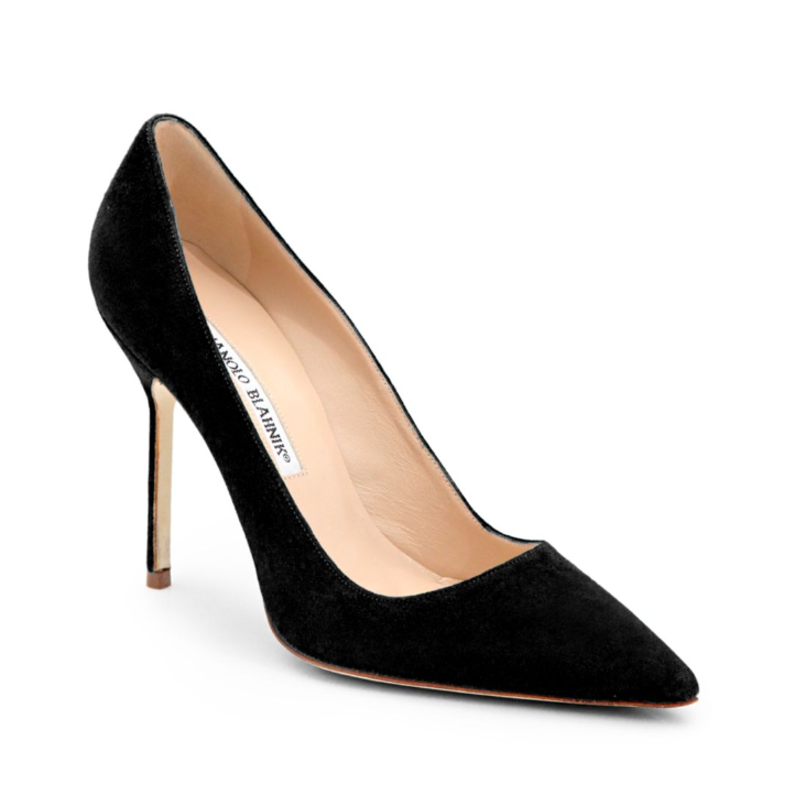 Manolo Blahnik BB pumps in black suede, as worn by Meghan Markle