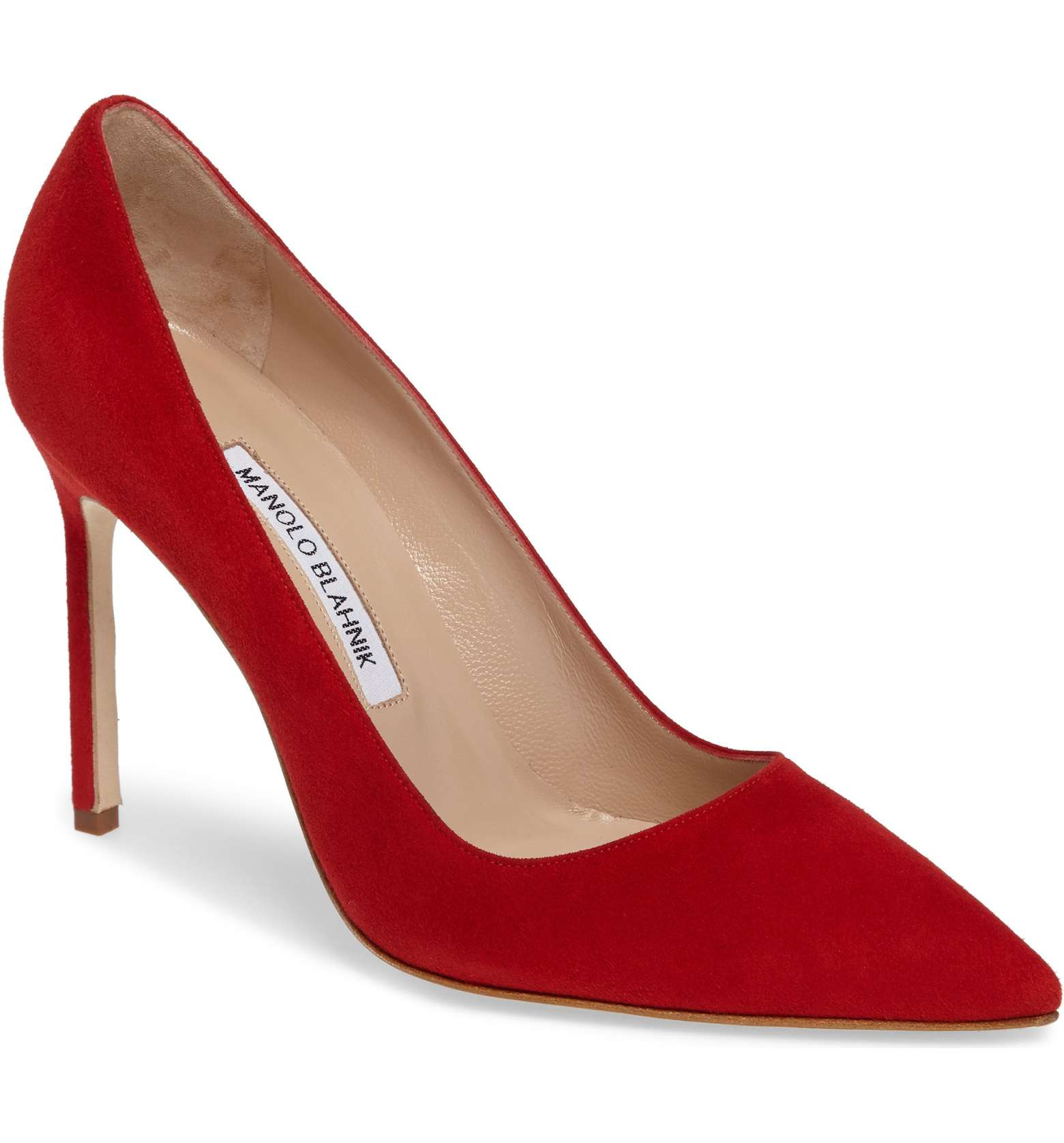 Manolo Blahnik BB Pumps in Red