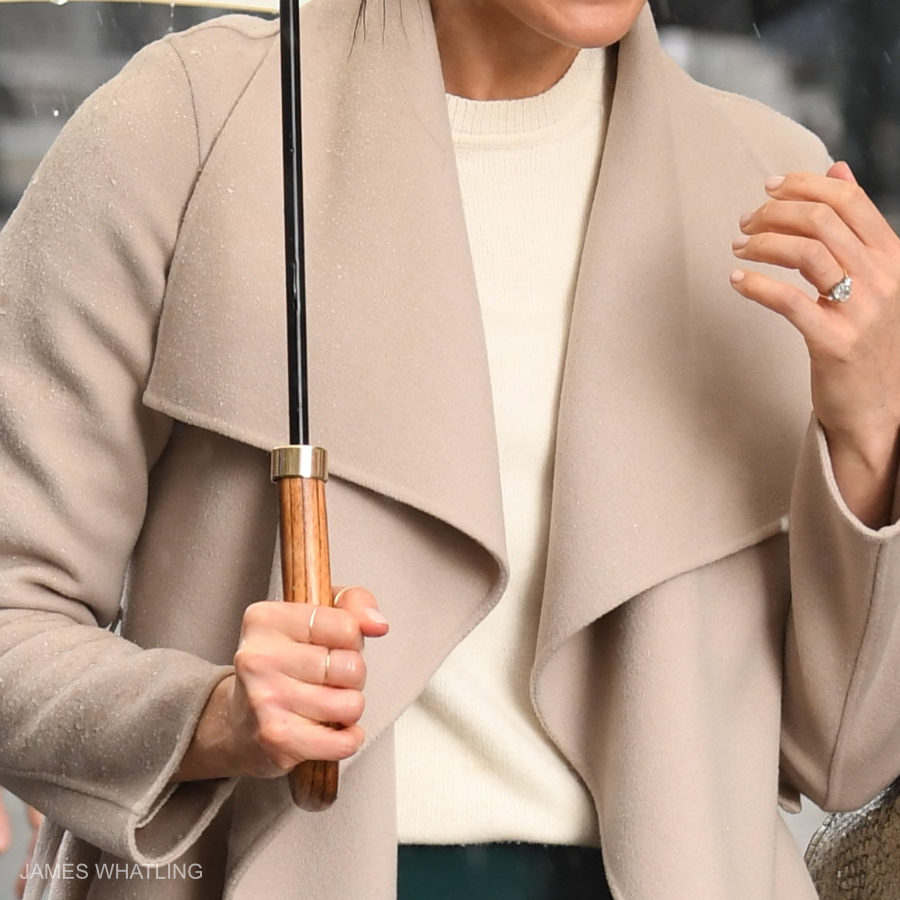 Meghan Markle wearing the ivory Victoria Beckham sweater in Belfast