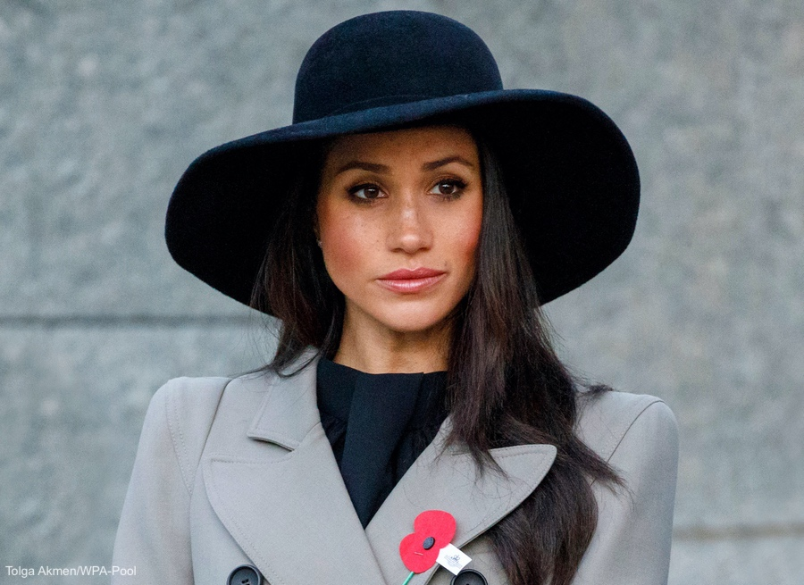Meghan Markle at the Anzac Day Dawn Service