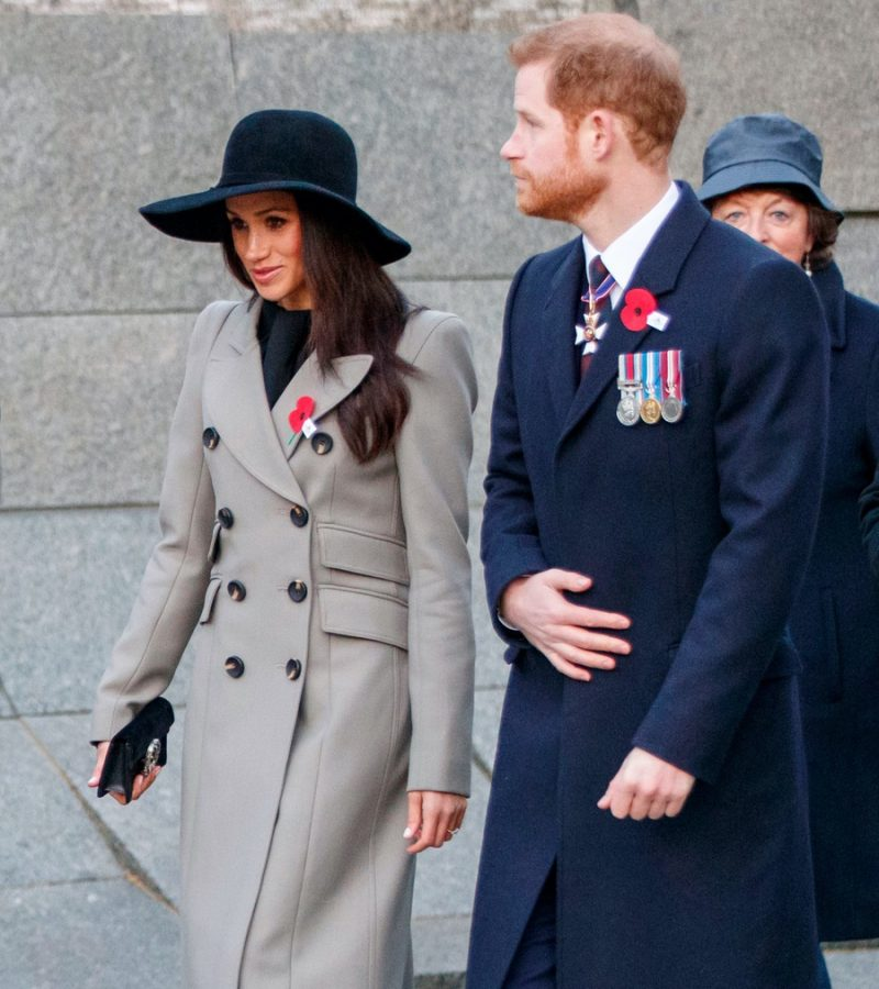 Meghan opts for grey military-style coat by Smythe for Anzac Day Dawn Service