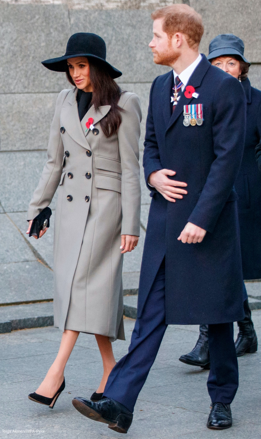 Meghan Markle and Prince Harry at the Anzac Day dawn service