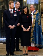 William, Harry and Meghan attend the Anzac Service at Westminster Abbey