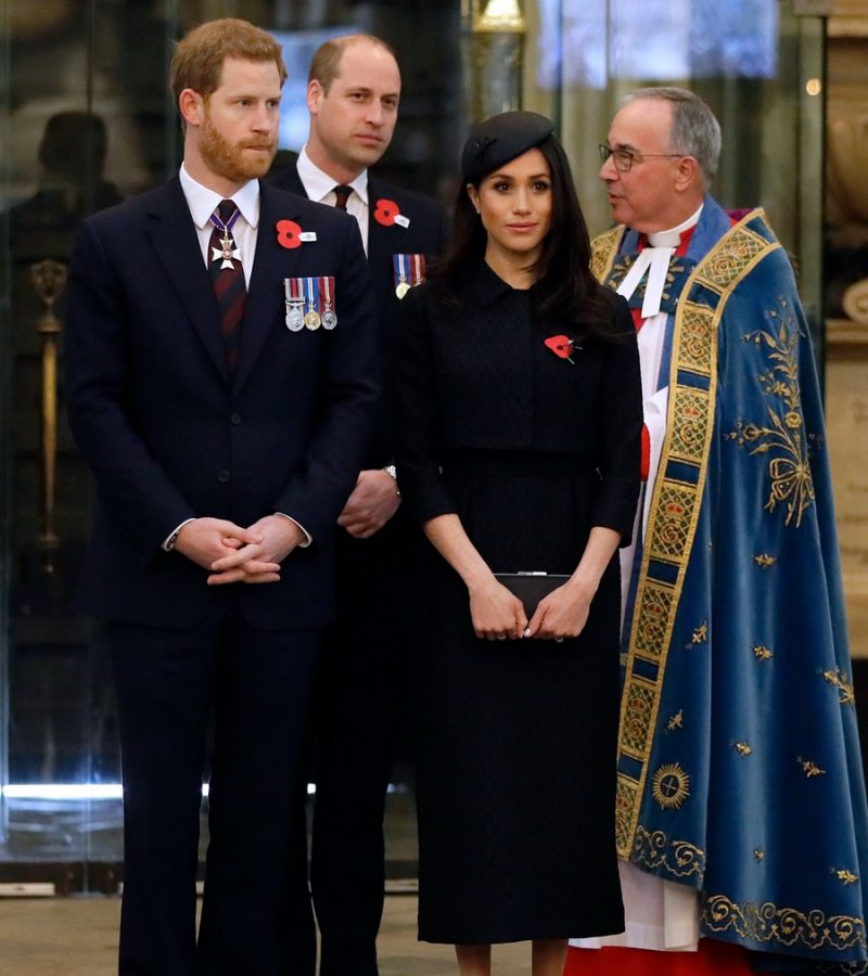 Meghan in Emilia Wickstead for Anzac Day service at Westminster Abbey