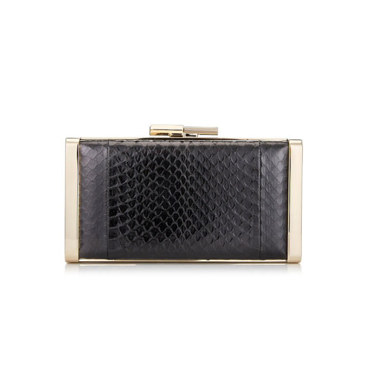 Jimmy Choo J Box in Black Snake