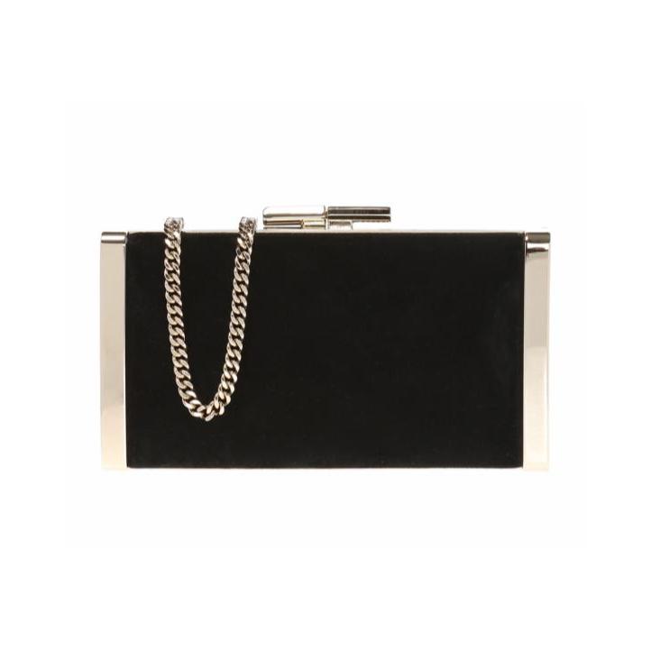 black Jimmy Choo J Box Clutch bag
