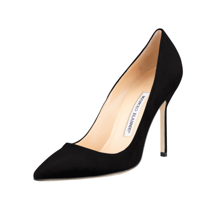 Manolo Blahnik BB pumps in black suede