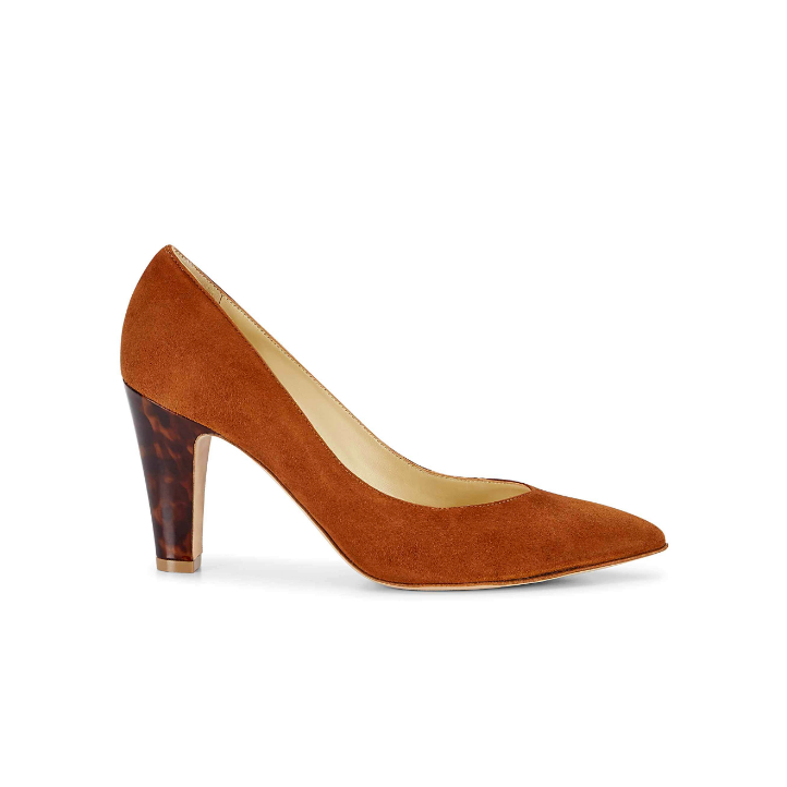 Sarah Flint Jay Pumps in Cognac Suede
