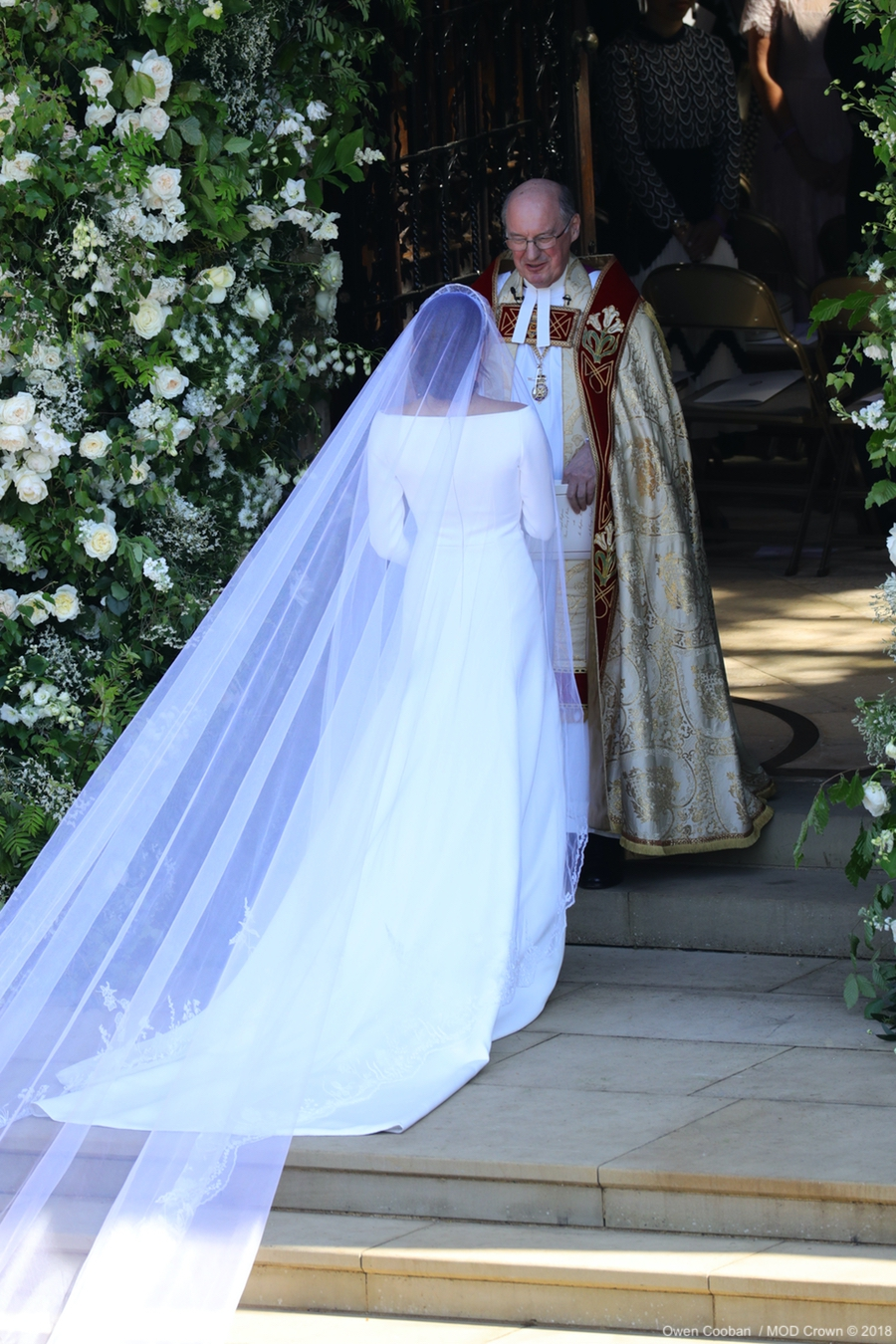 The back of Meghan Markle's wedding dress