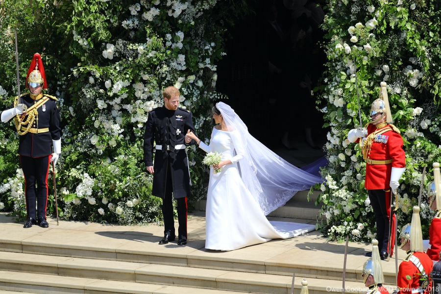 Meghan and Harry at the 2018 Royal Wedding