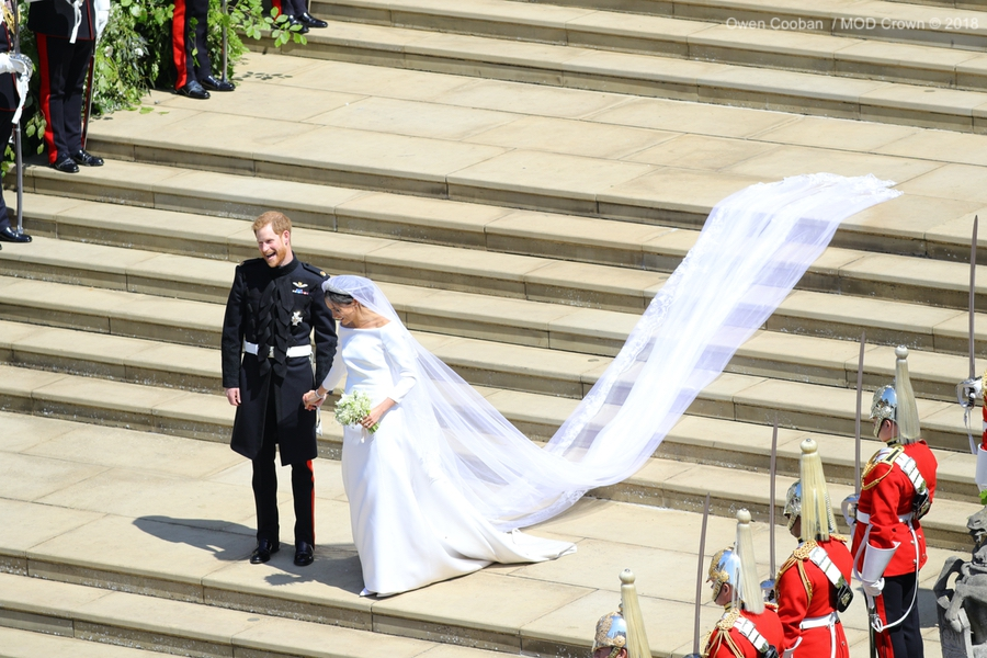 Meghan and Harry's wedding day