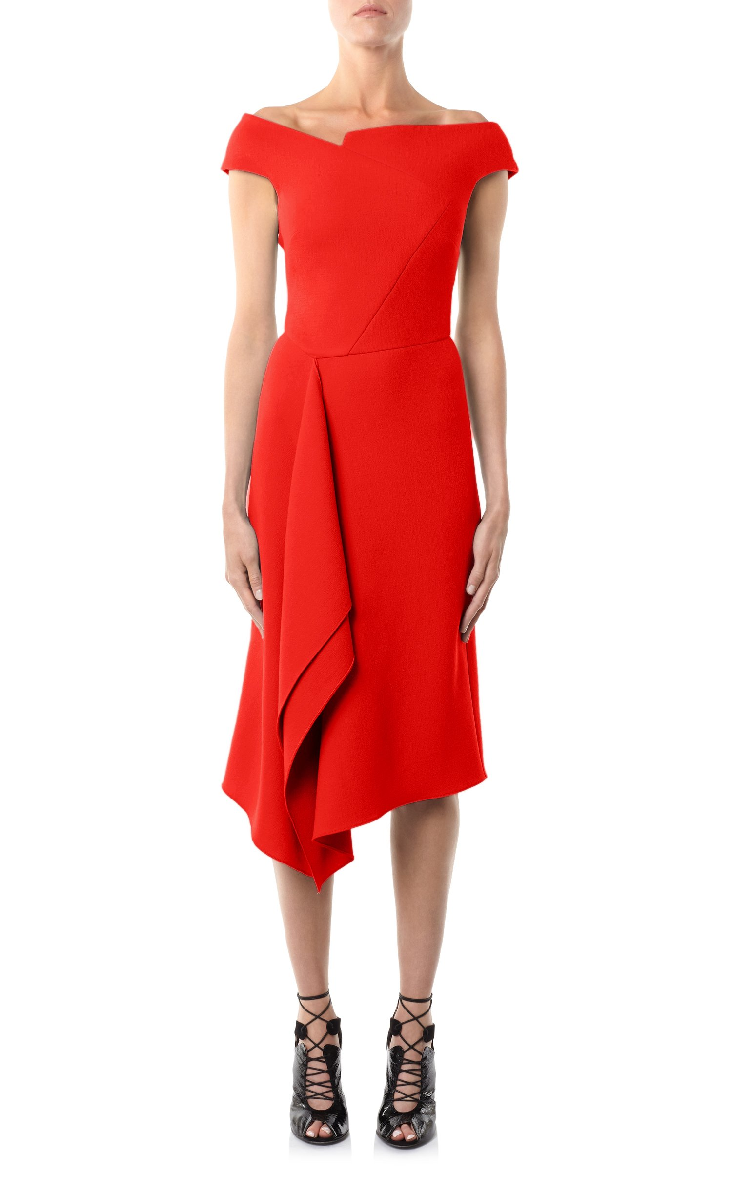 Roland Mouret Barwick dress in red