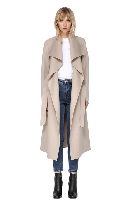 MACKAGE MAI coat in Sand (open)