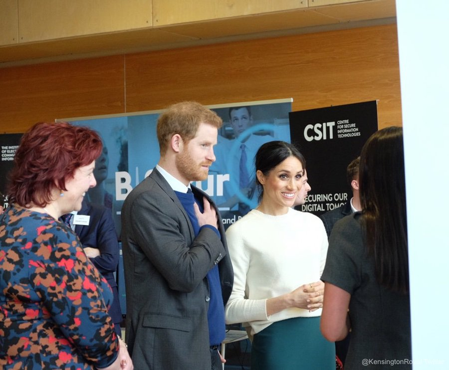 Meghan meeting with entrapreneurs and innovators