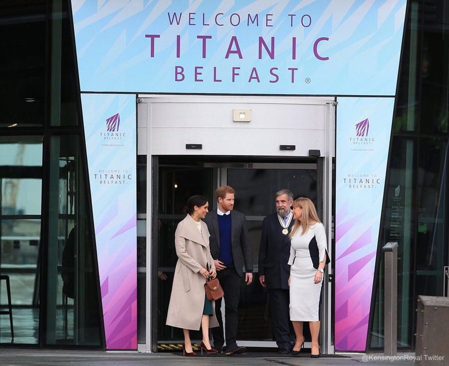 Harry and Meghan Markle visit HMS Titanic visitor attraction in Belfast