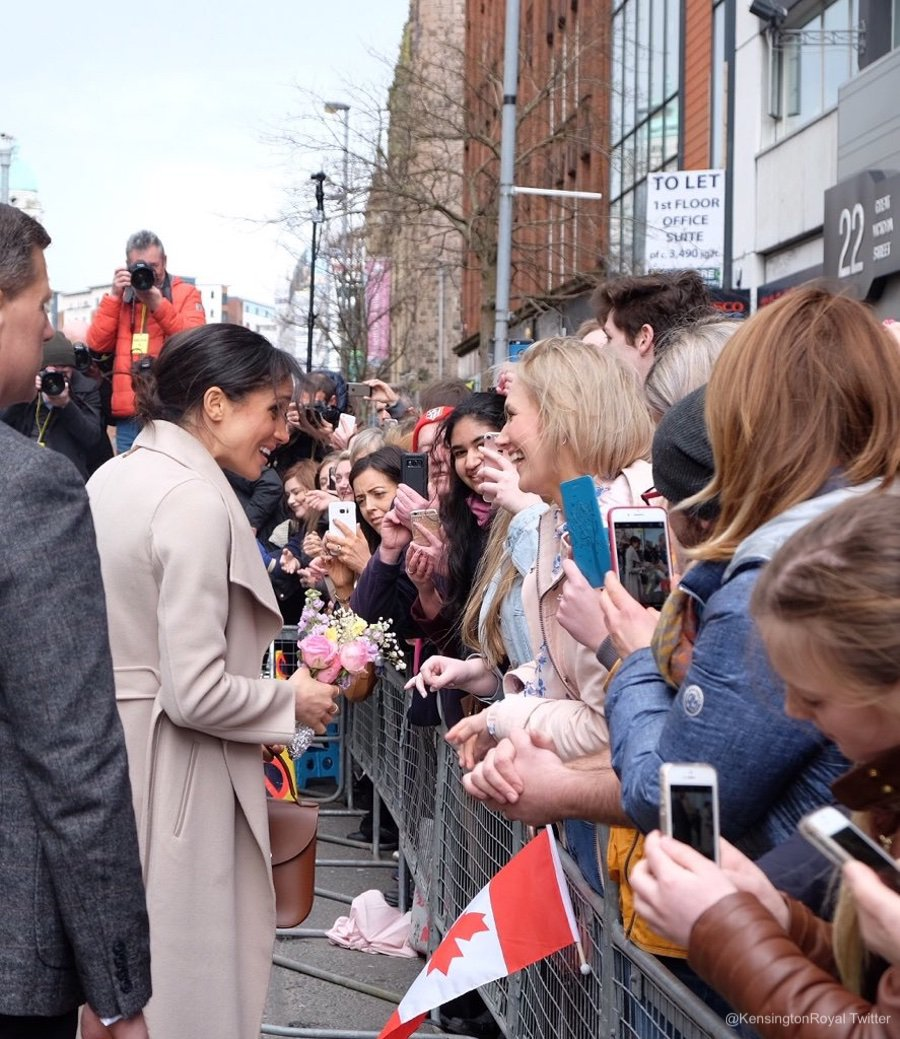 Meghan meeting people in Belfast, NI