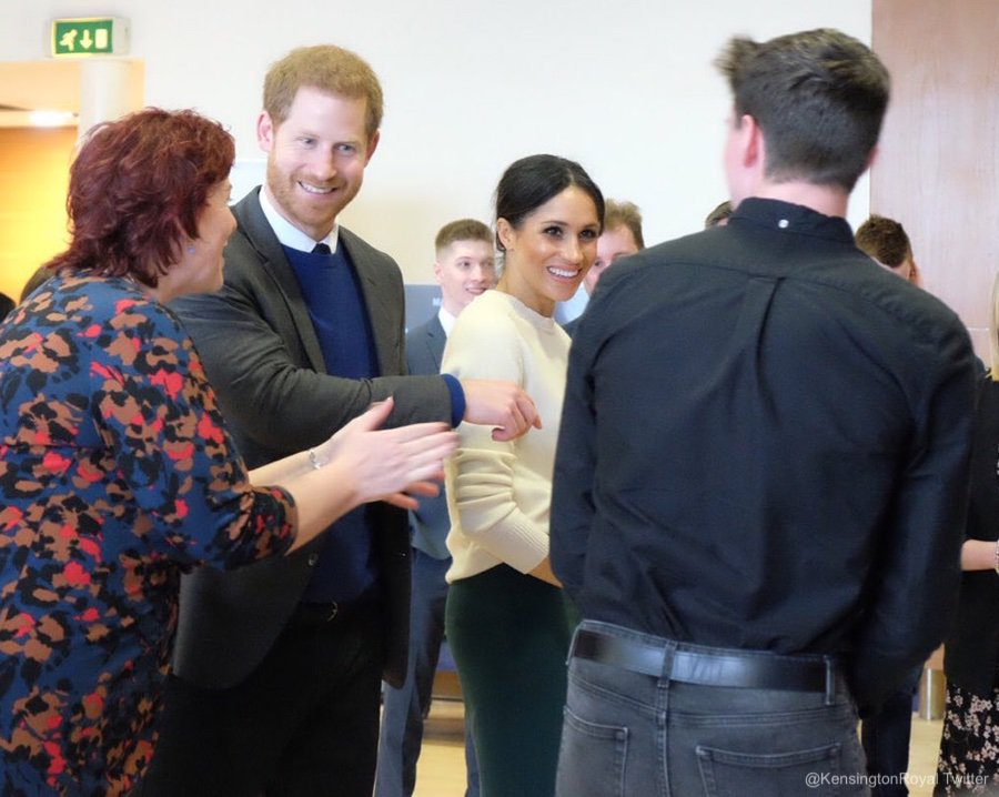 Meghan and Harry visit Catalyst Inc in Belfast, NI