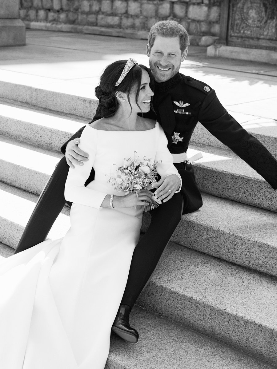 Meghan and Harry's official wedding photo