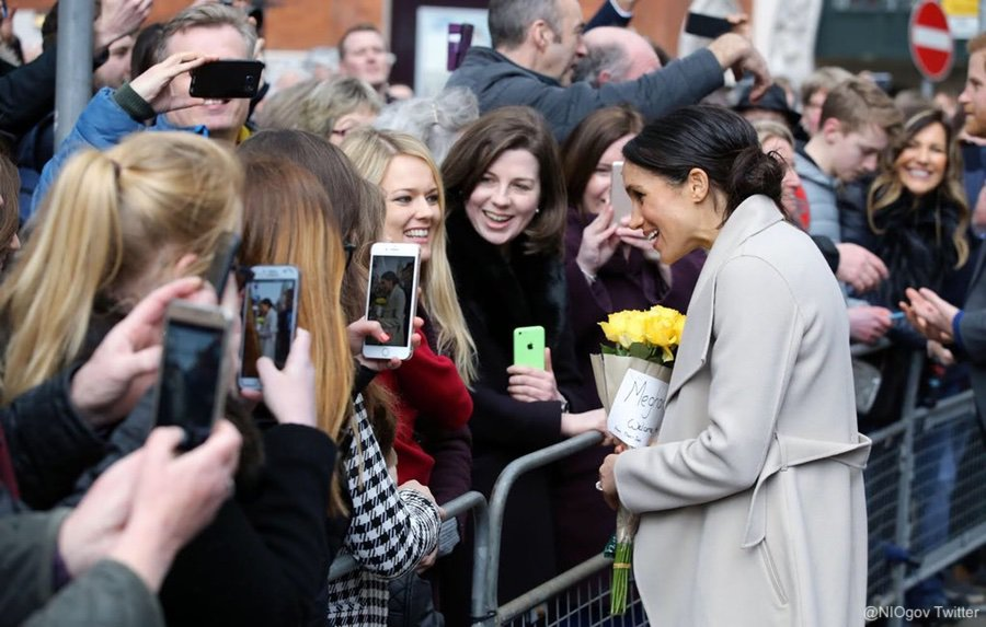 Meghan and Harry in Belfast