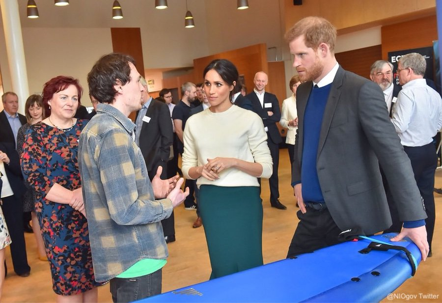 Meghan and Harry at Catalyst Inc