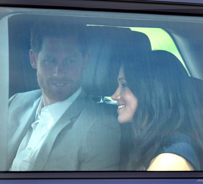 Meghan wears Roland Mouret the day before her wedding!