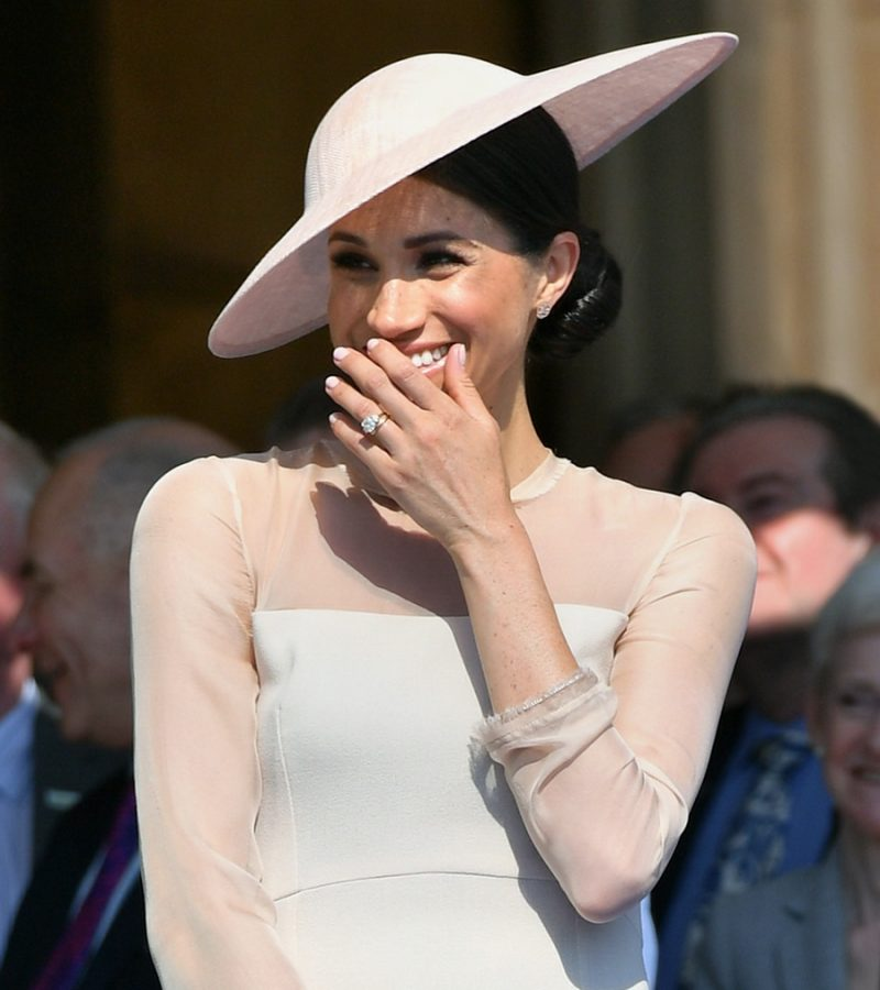 UPDATED:  Newlywed Meghan wears London label GOAT for her first Buckingham Palace garden party