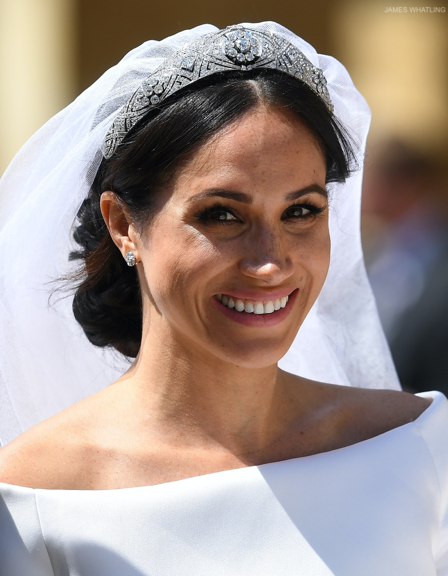 Meghan Markle at her wedding to Prince Harry in May 2018
